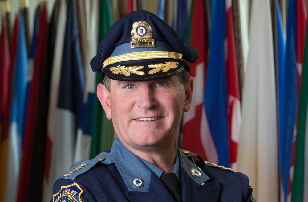 Terrence M. Cunningham, president of the International Association of Chiefs of Police and chief of the Wellesley, Mass., police. On Monday he offered an apology for historic mistreatment of minorities by police. (IACP)