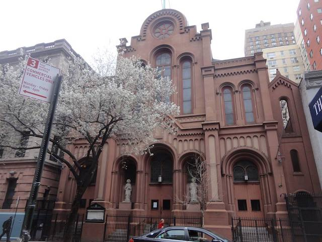 Church of Our Lady of the Scapular-St. Stephen on East 28th Street, one of the shuttered churches (via Facebook).