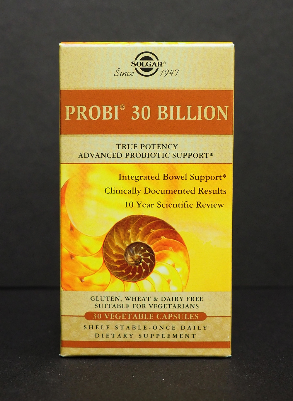 Probi 30 Billion by Solgar (Contains a single strain of L.  Planetarum  and is well tolerated by most IBS sufferers)