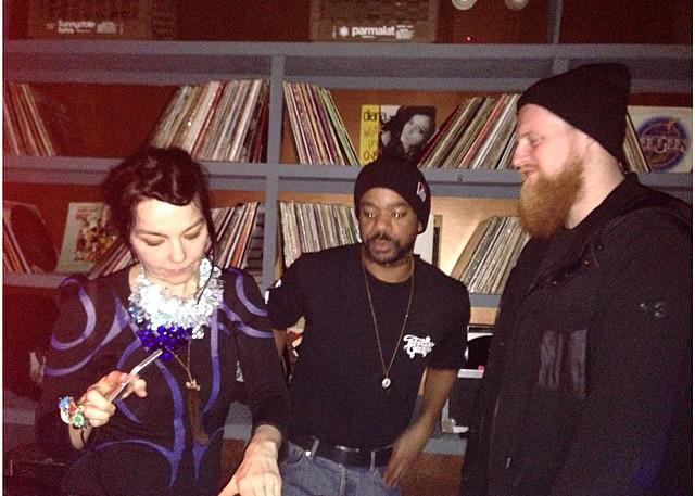 Bjork playing a DJ set at Good Room. (PhotoJulie Thevenot via  Bedford + Bowery )