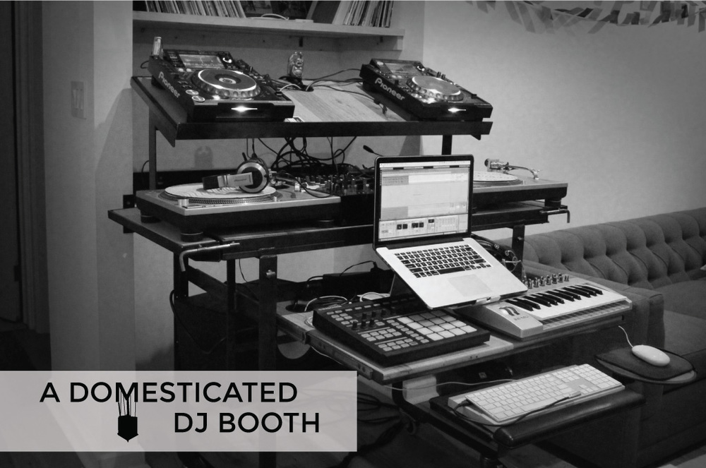 a custom 2in1 production desk and dj booth for people with tiny apartments u2014 under the sound - Music Production Desk