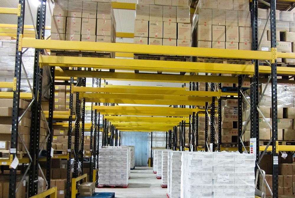 冷凍倉庫 貨存量 : >1800 個貨板