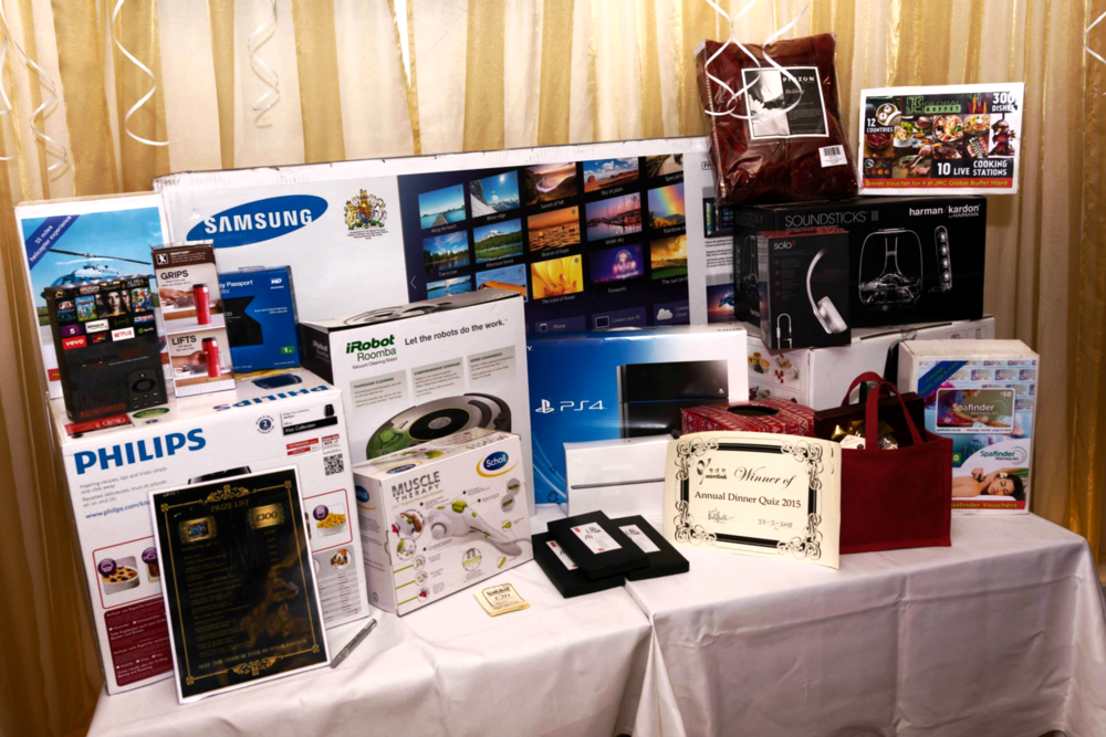 Some of the prizes at the highly anticipated Lucky Draw