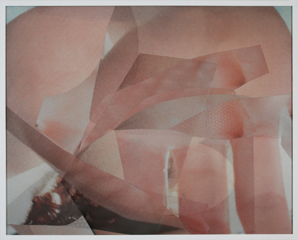 "2014  Adhesive vinyl on PVC  30"" x 40"""