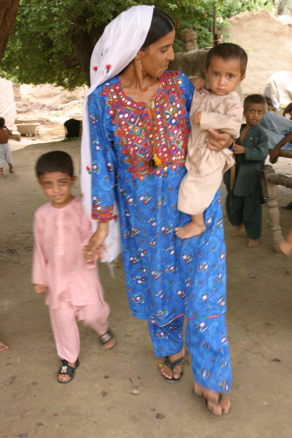 Marvi with her two boys