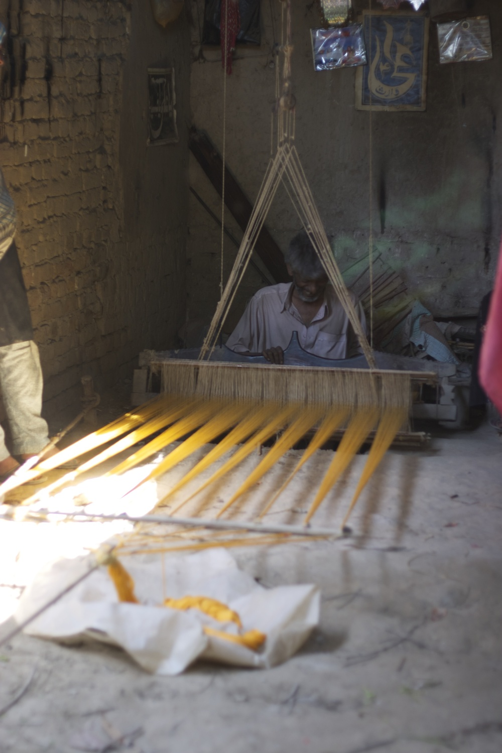 Lal Buksh at his loom