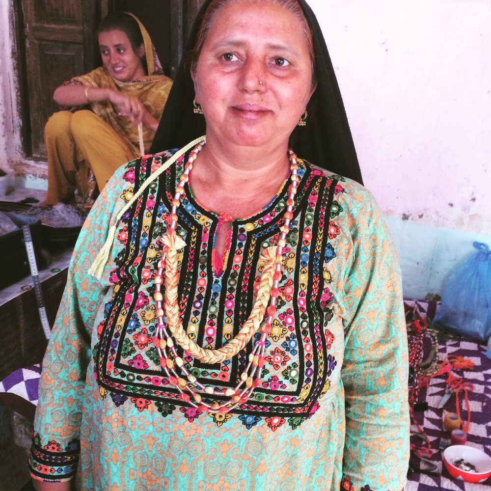 Ghulam Zohra in Sufi Cascade necklace Sunshine