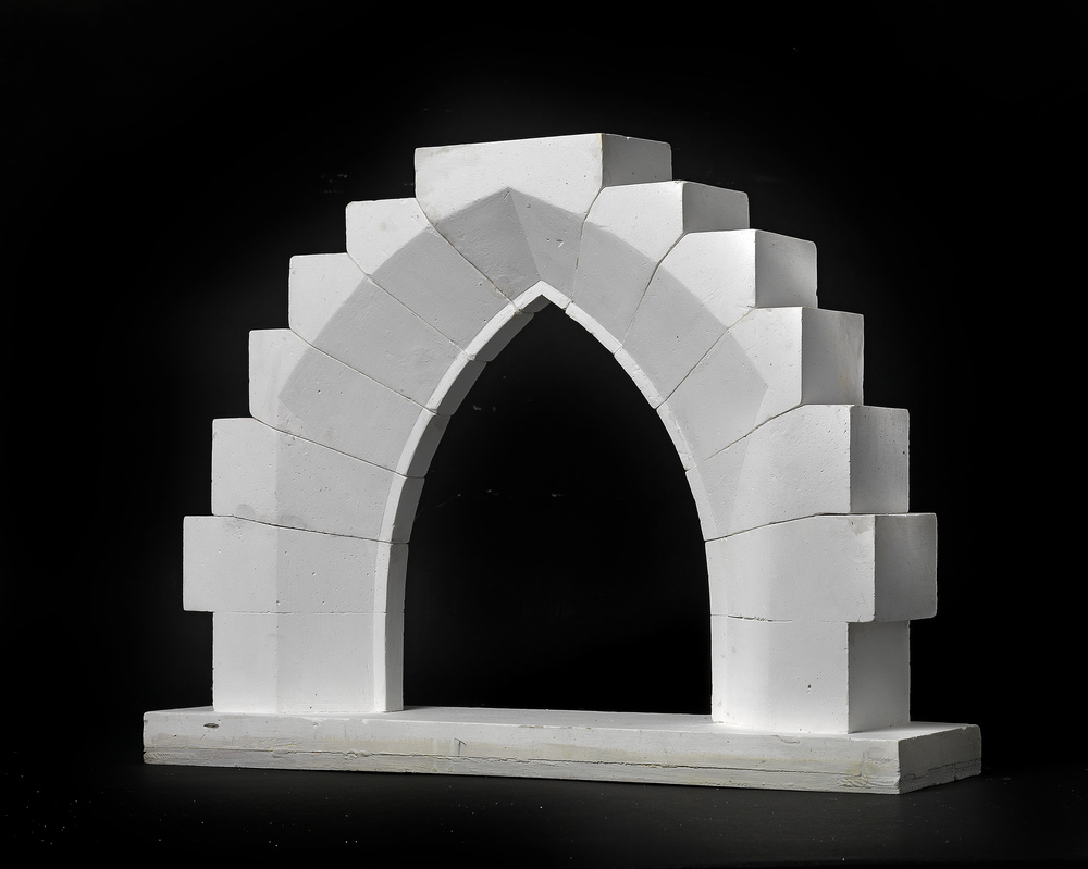A 19th Century Didactical Architecture Model Of Gothic Pointed Arch With Reveal