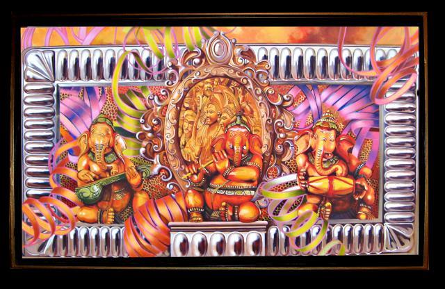 """Ganesha - OPIA! 36"""" x 60"""""""