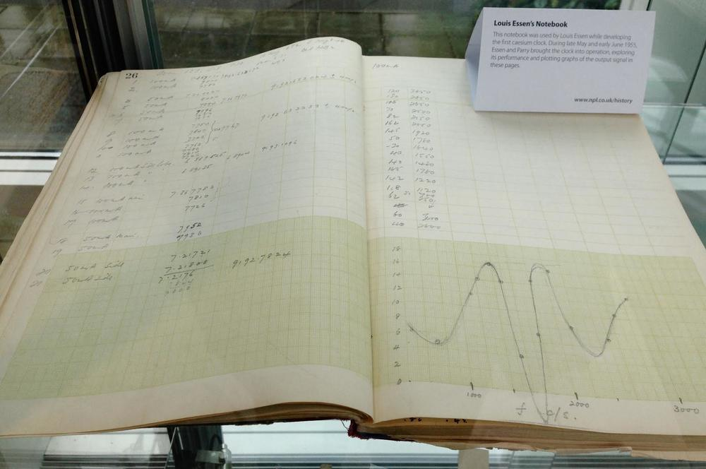 The notebook used by physicist Louis Essen while developing the first cesium (basically, atomic) clock.