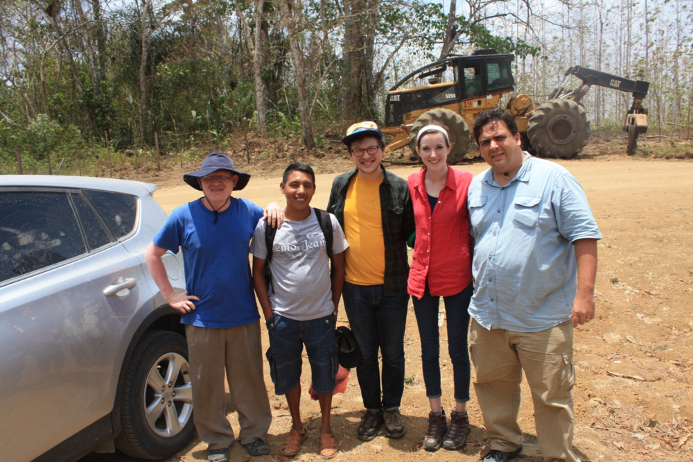 From left to right, one of Ben's contacts in Morti, Teo, Anthony, Rachael, and Ben
