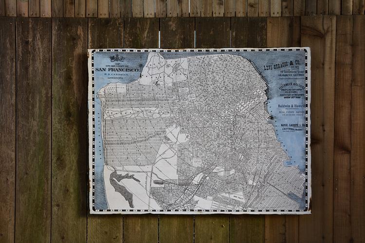 San Francisco Vintage Map RUE SONOMA By Rupiper Designs - Vintage sf map