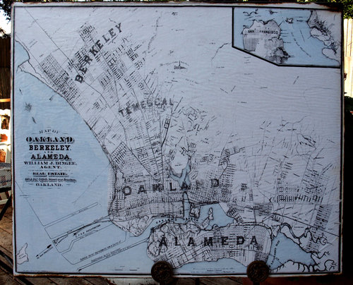Oaklandalameda vintage map rue sonoma by rupiper designs oaklandalameda vintage map publicscrutiny Image collections
