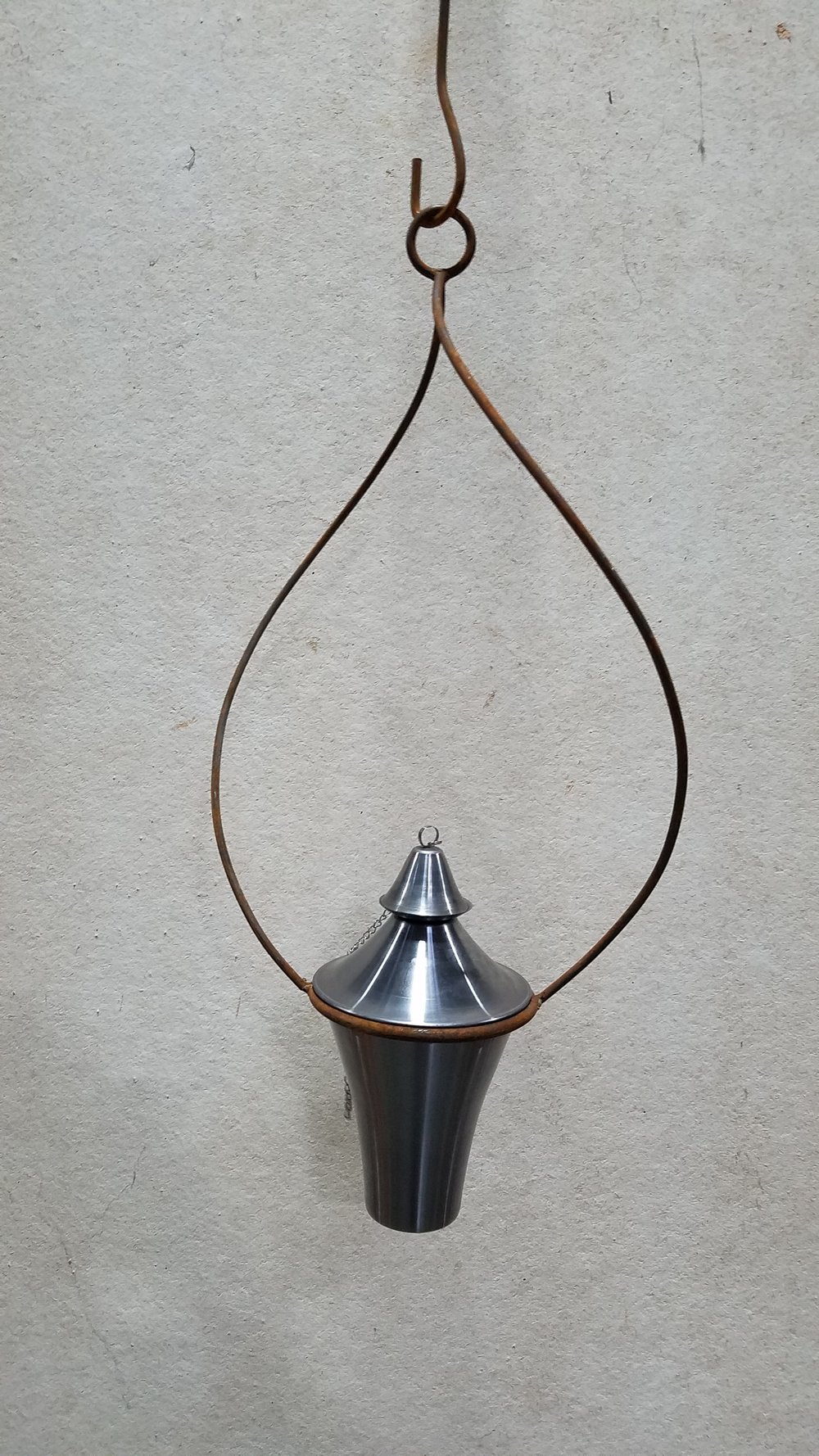 "6"" Torch-Mild Steel (6MS) Fits 6"" Ring; Pictured with Twisted Hanging Pot Holder 6 (6TW)"