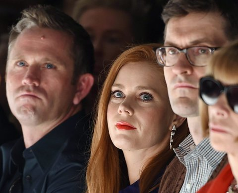 Amy Adams,  front row at the label's spring 2015 show in Milan