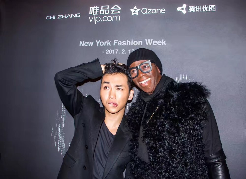 Designer CHI ZHANG (Left) & Miss J Alexander (Right)