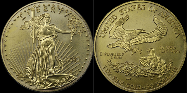 This fake of the popular gold American Eagle is easy to spot. PNG warns coin buyers to be on their guard.
