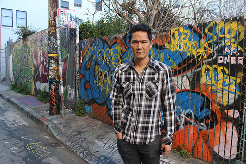Scott Chen of San Francisco.    Amber and Scott met in Hayes Valley over common love for the city. Now a regular at the Strand  - search for Amber Hockeborne through link