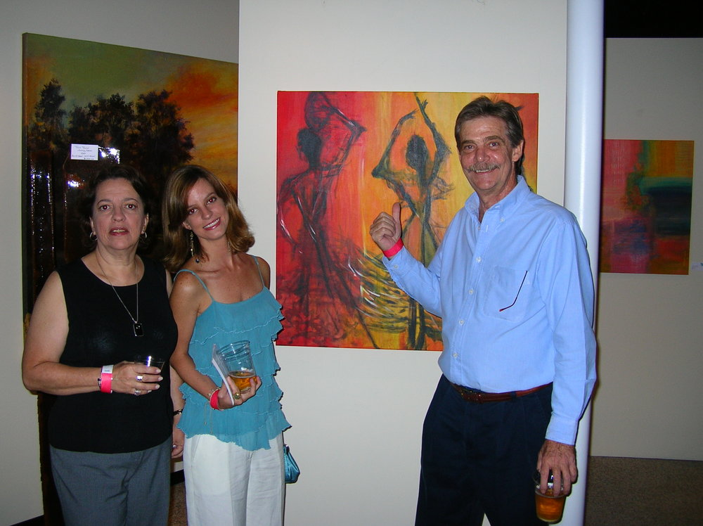 Joanne and her parents at Gallery M, Tampa, FL, 2006