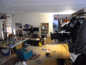Just because we can... took some footage of the still assembled Living Room diorama.