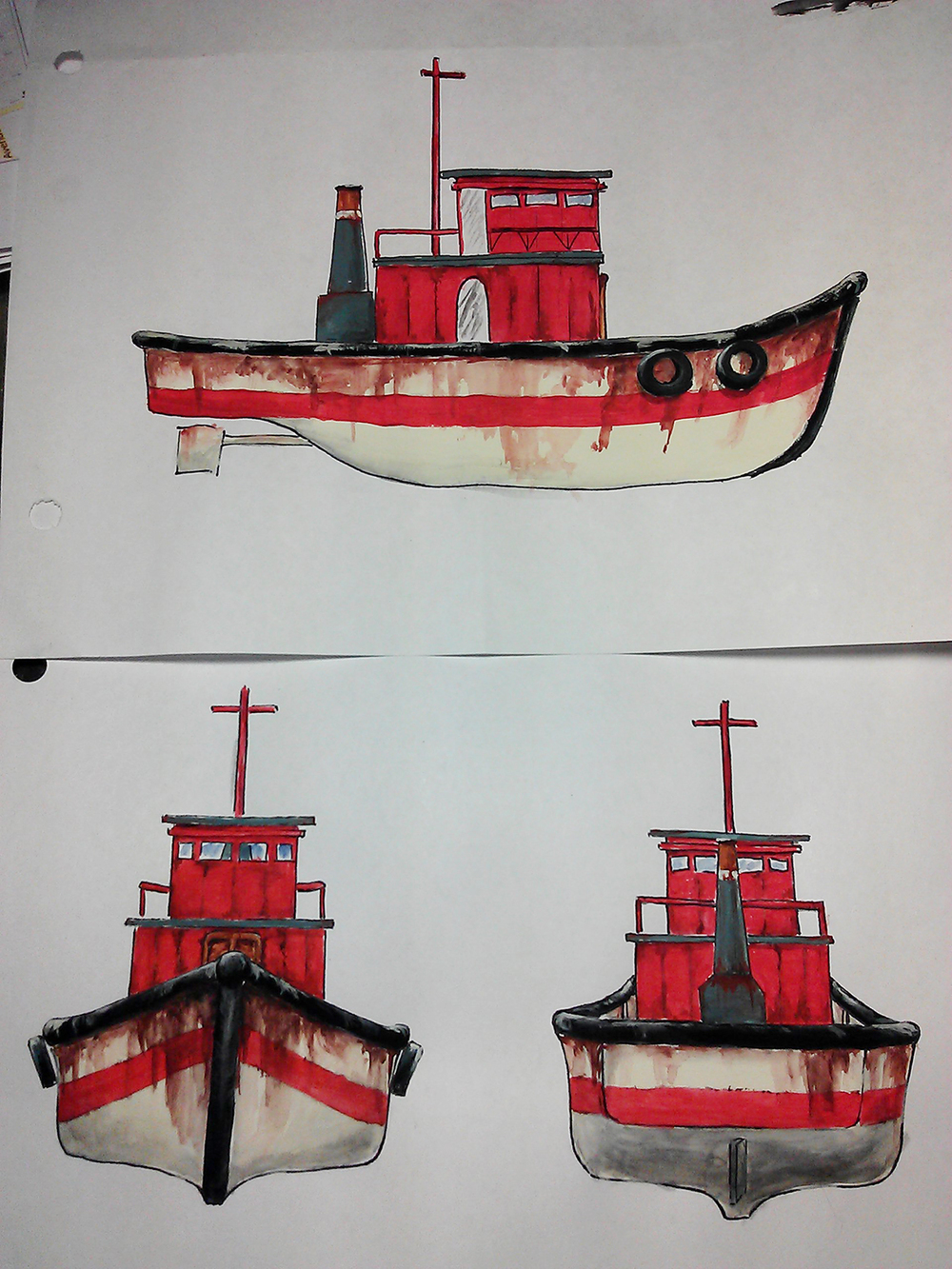 Sketches of the S.S. Bean