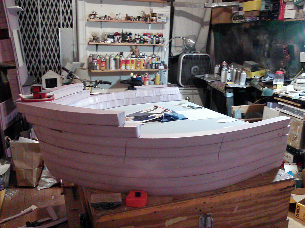 Building the boat.