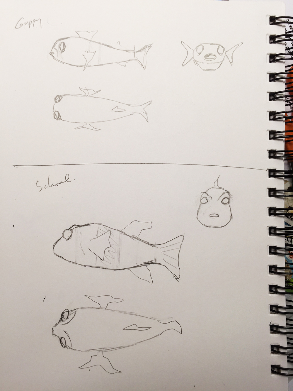 Sketches for Guppy.