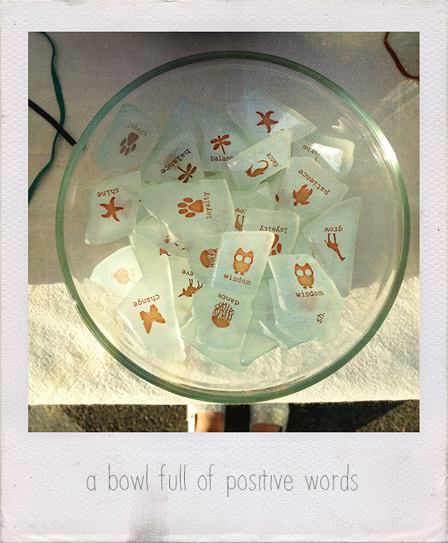 bowl of positive words