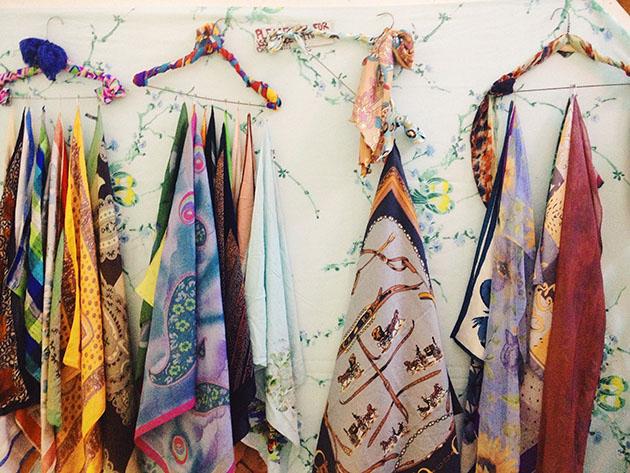vintage scarves