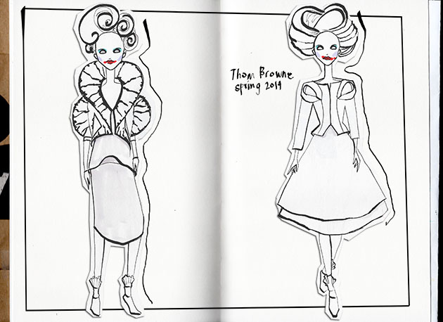 thom browne sketchbook