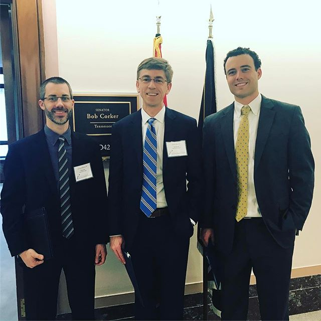 On the Hill today talking about the Teaching Health Center program. Great to meet with @senbobcorker staff. #extendthcgme
