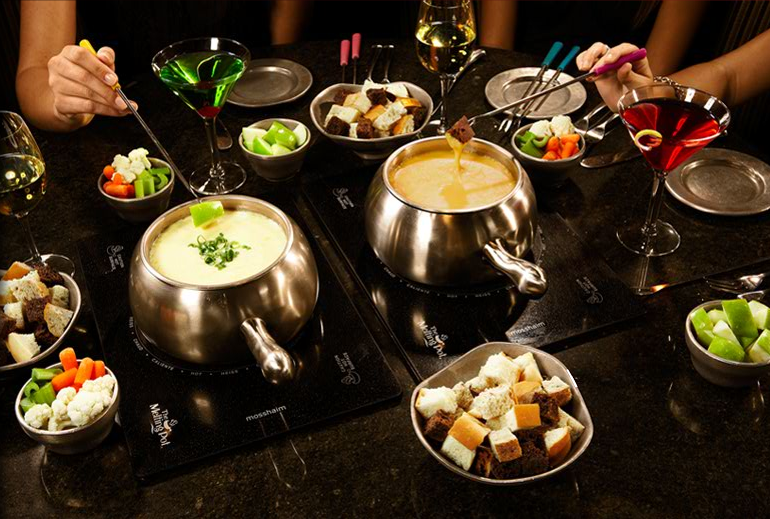 One Of The Best Parts Of My Dinner At The Melting Pot Did Not Actually Involve Any Eating At All Watching My Waitress Make The Fondues In Front Of Our