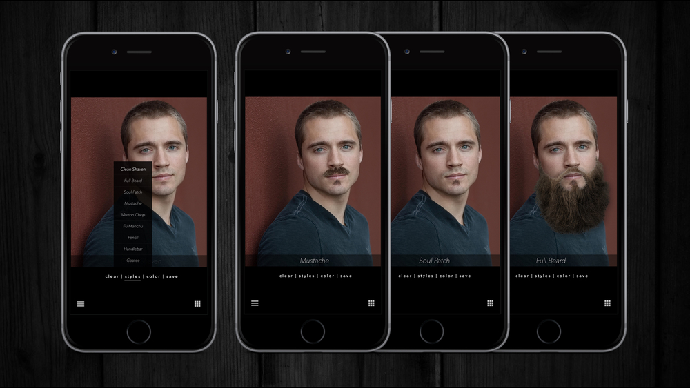 The other feature in the Shave Academy app is a simulation that lets you see how you would look with different facial hair styles. Simply take a photo or use an existing profile picture and start experiementing.