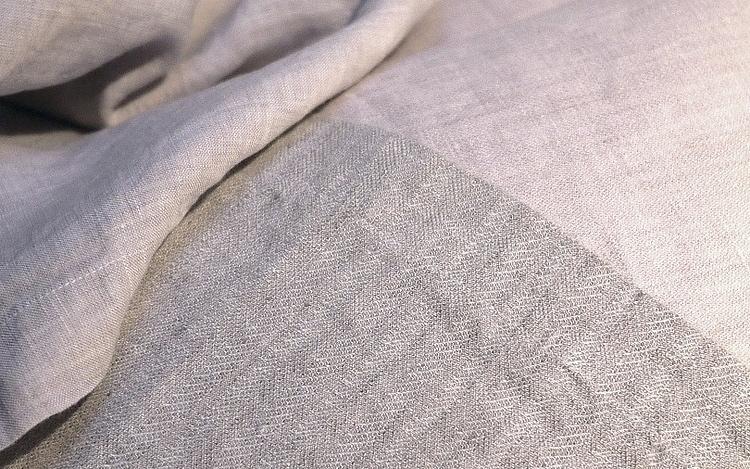 lilac plain, herringbone and sateen linen