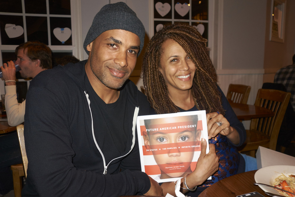 Caption: Boris Kodjoe and Nicole Ari Parker with Future American President