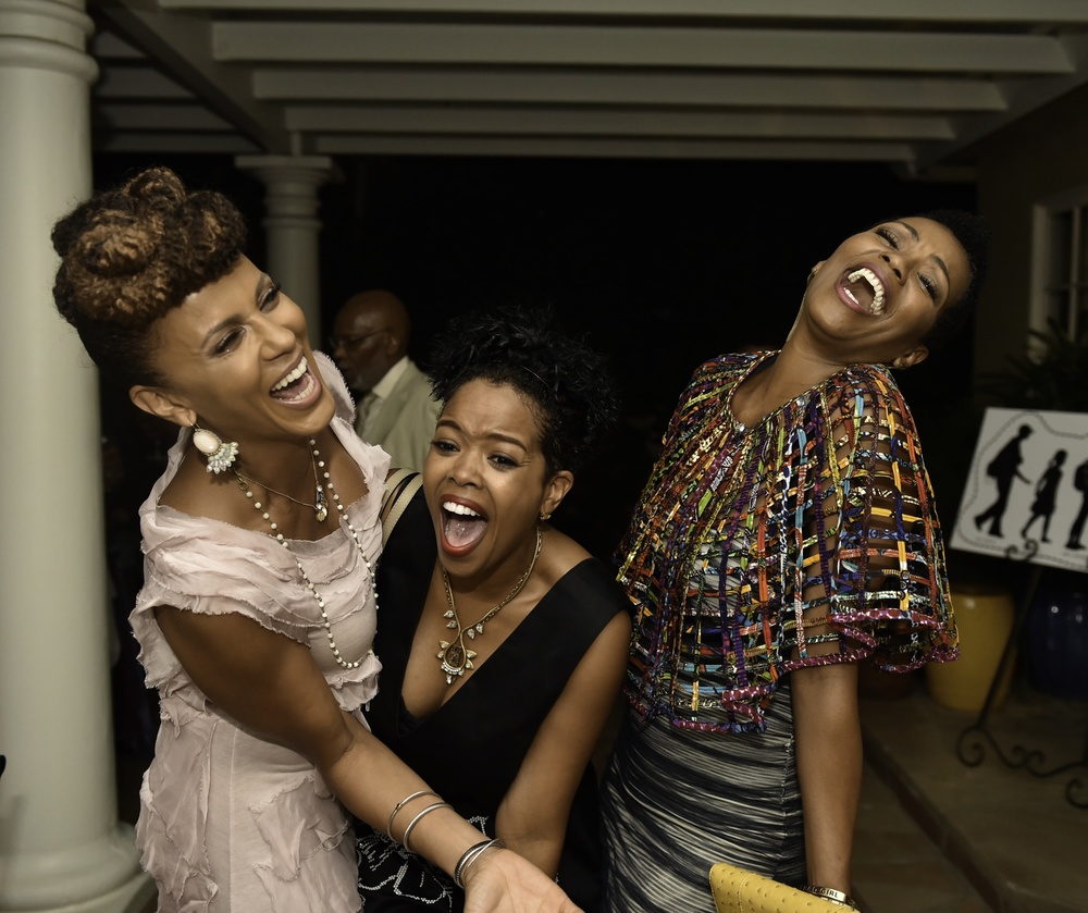 Caption: Soul Food sisters at the Kickstarter launch party for FUTURE AMERICAN DREAM. Photograph by Ronald Pollard.