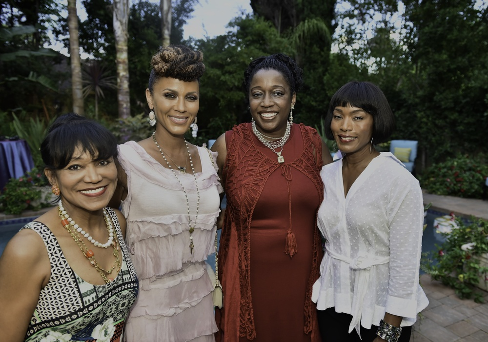 Caption: Host for the Kickstarter Launch Party, Dr. Pearl E. Grimes, Nicole Ari Parker, Felicia D. Henderson and Angela Bassett. Photograph by Rnoald Pollard