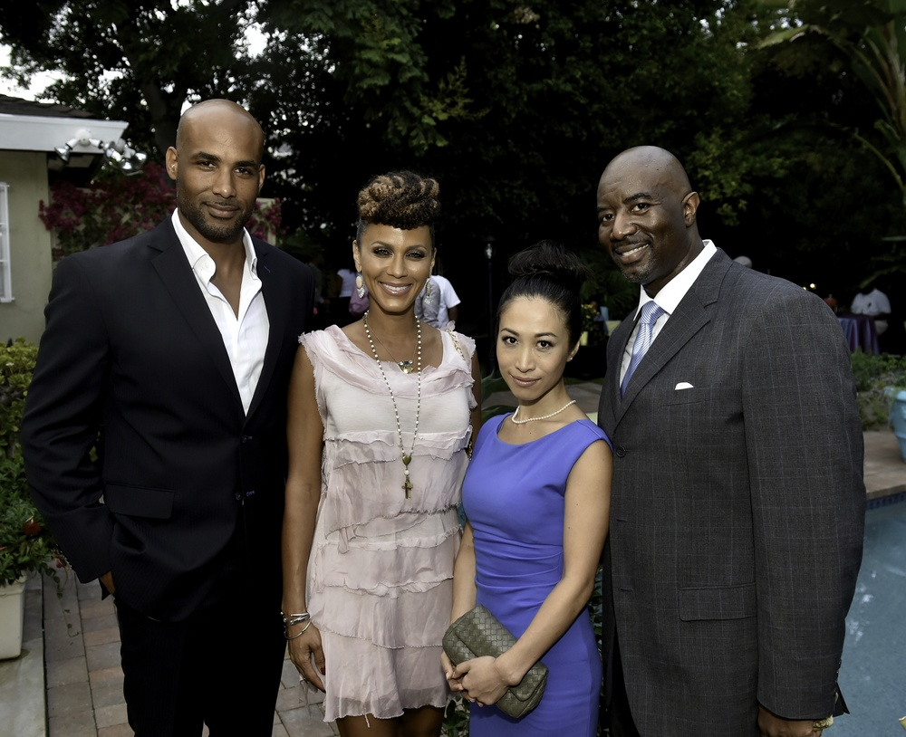 Caption: Boris Kodjoe, Nicole Ari Parker, Maki Sekine and Matthew Jordan Smith at the Kickstarter release party for FUTURE AMERICAN DREAM. Photographs by Ronald Pollard.