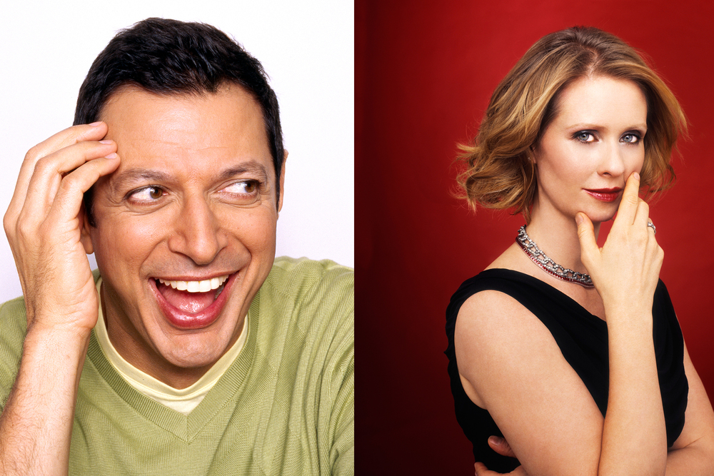 Jeff Goldblum and Cynthia Nixon