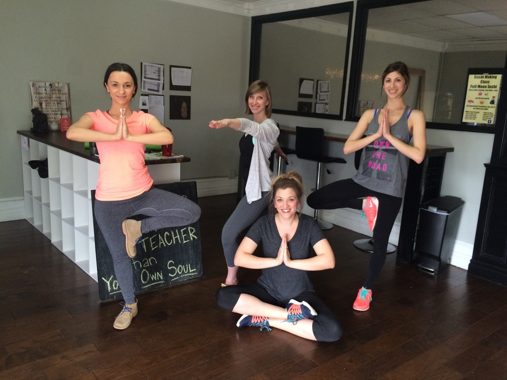 Pictured left to right: Jelena Dukic, Kalie Fry, Amanda Krueger & Caroline Aur
