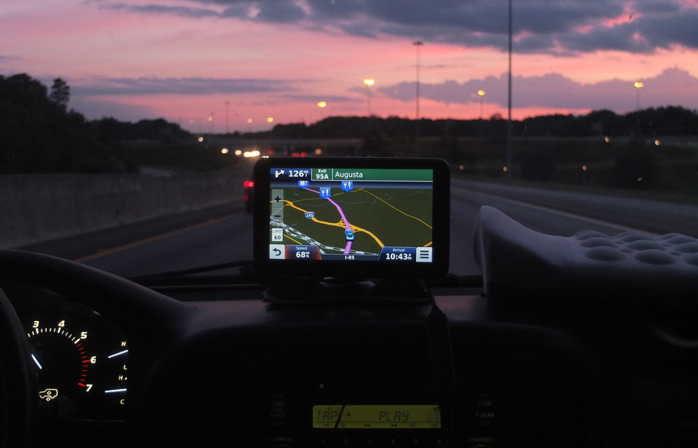 GPS  between Greenville, SC and Atlanta, GA  8/2015