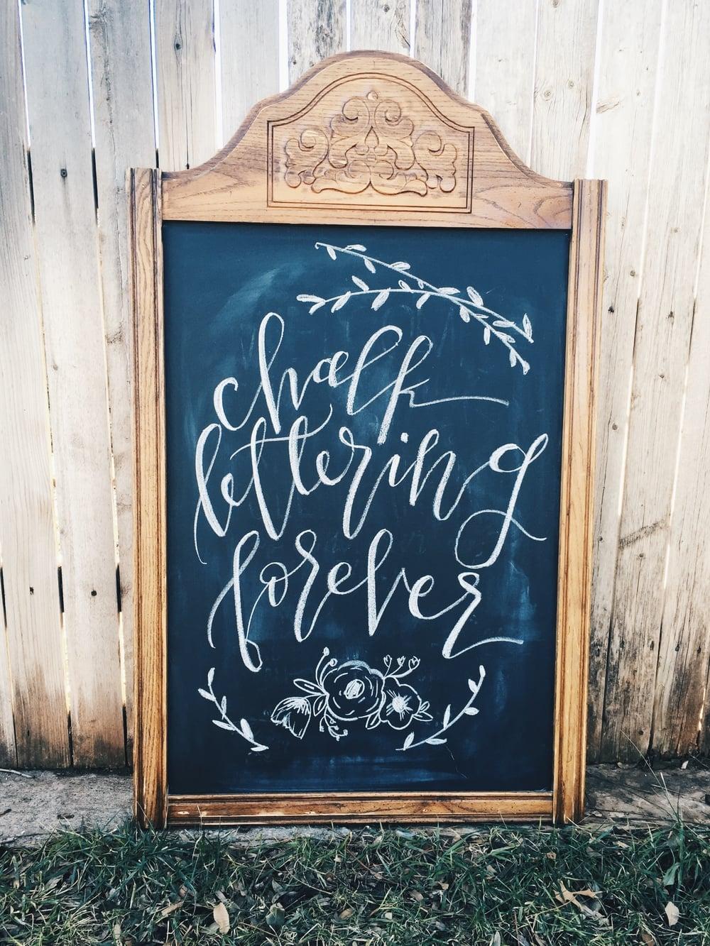 chalk lettering forever - connar joy calligraphy