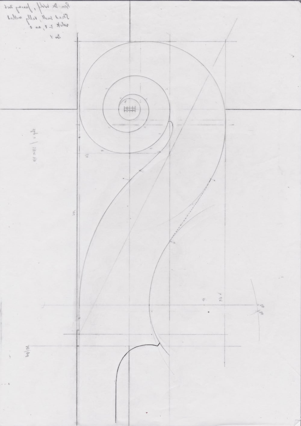 Kevin Kelly scroll design method (no 0; 3/8) drawn by Ben