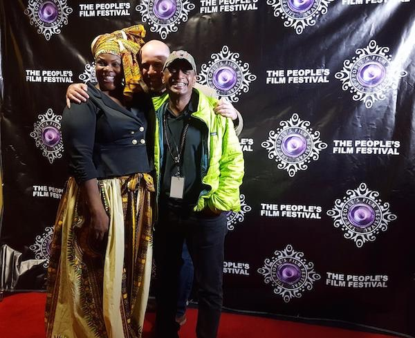 Winner Best Movie 2016. - Gregory Kennedy-Salemi & Emmy Award winner and WIRDWORLD Co-Founder, Noam Dromi at The Peoples Film Fest, Harlem NYC.