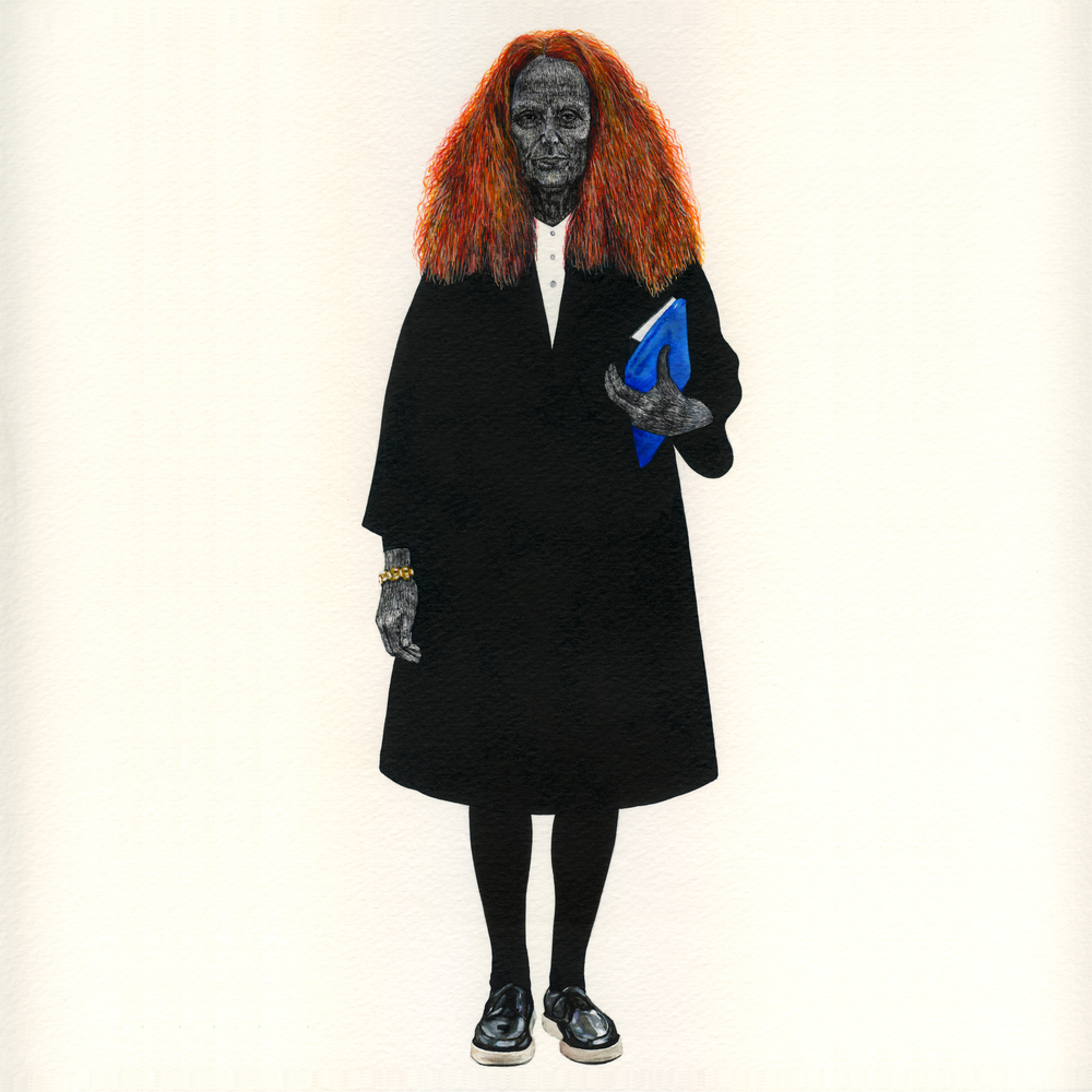 "grace coddington // tipi thieves // ink + watercolor on heavy paper 15"" x 20"""