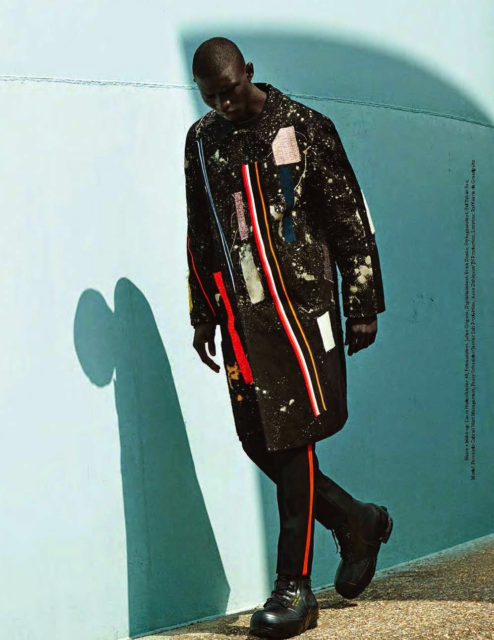 raf simons   x   ruby sterling   editorial // shot by  julia non i   // styled by  tobias frericks    //  gq germany      fall 2014