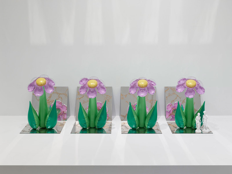 jeff koons //  inflatable flowers  // 1979  * photo from the whitney museum of american art *