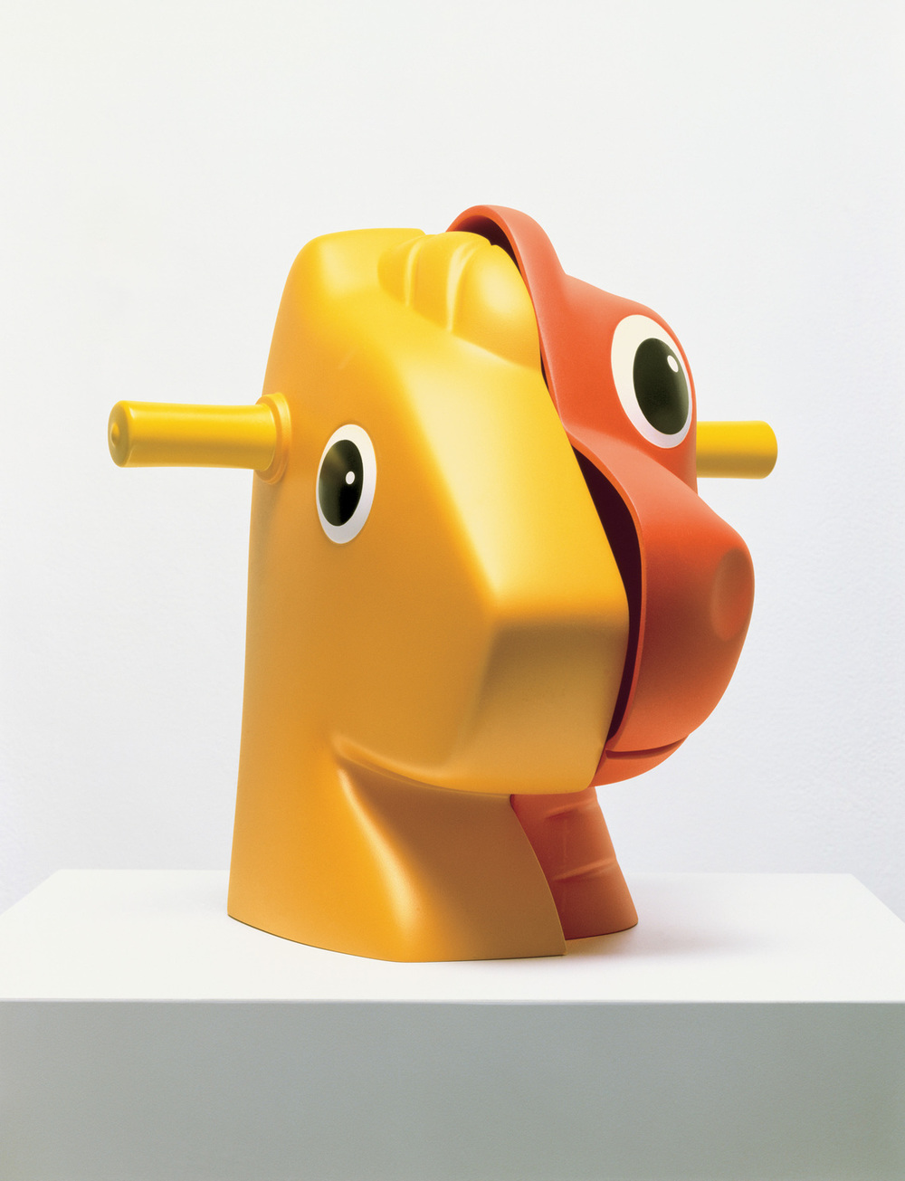 jeff koons // split-rocker (orange/red)  * photo from the whitney museum of american art *