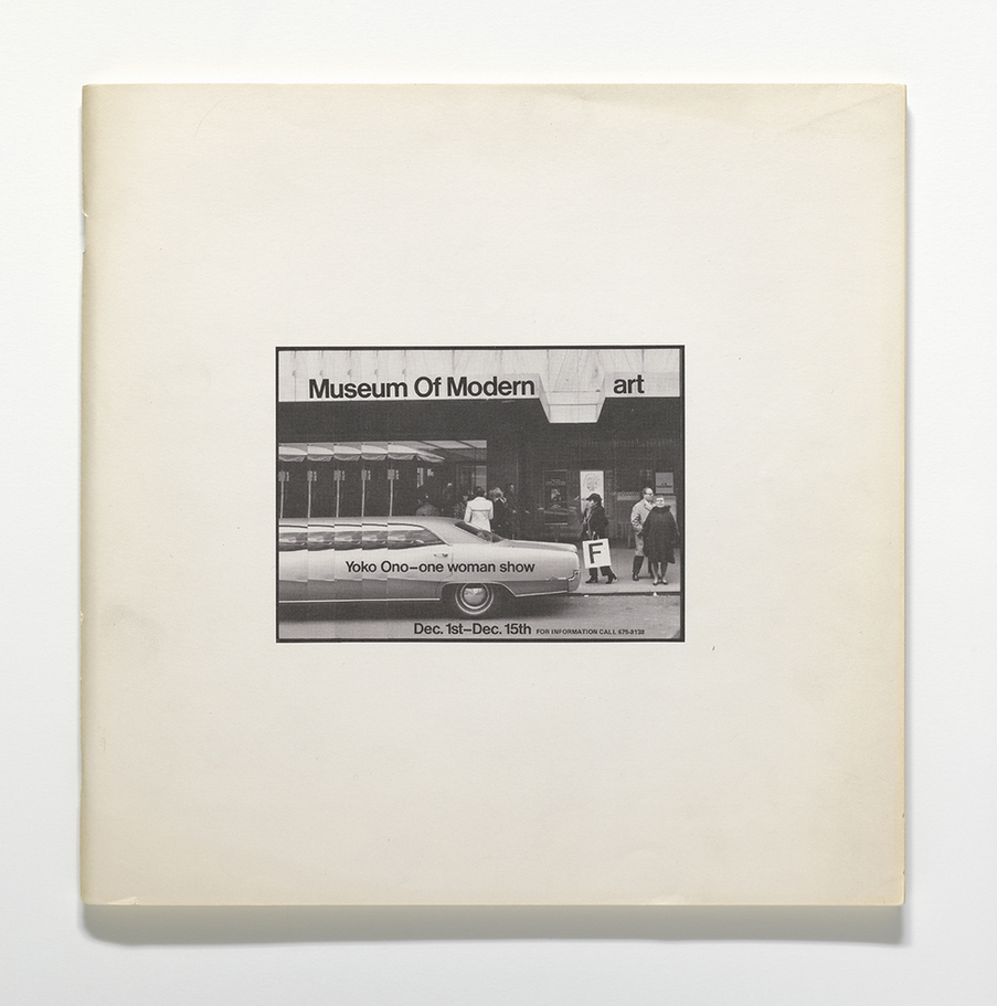 yoko ono // museum of modern art // 1971 // exhibition catalogue