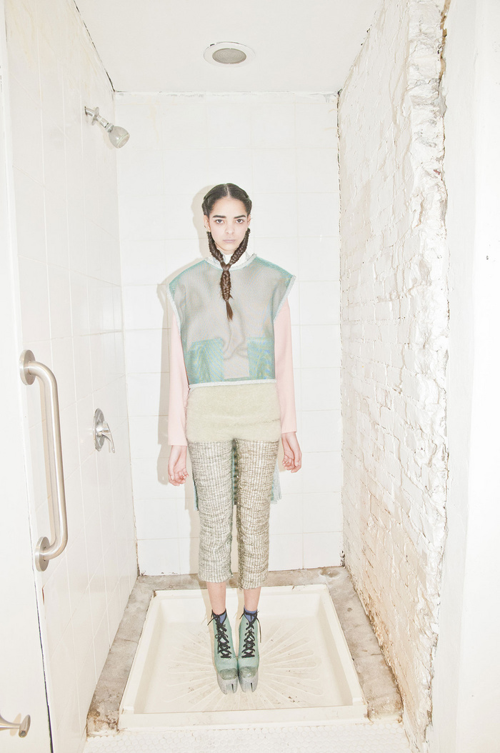 eckhaus latta a/w 2012 // i love that they shot the collection in the shower!!